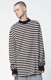 Wholesale Justin Bieber T shirt Clothes Streetwear T shirt Men Hip Hop Striped Oversized Long Sleeve Mens TShirts Fashion Christmas Male tee