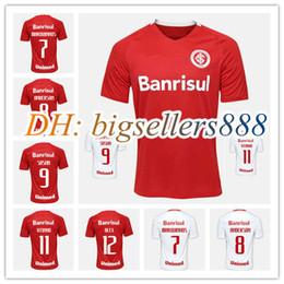 Wholesale Top Thai quality SC Internacional home red soccer Jersey Gremio FBPA Wallace futbol away white football shirt