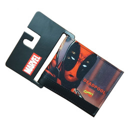 Wholesale Comics DC Marvel Men Wallets Fashion Casual Purse Deadpool Animation Creative Gift Card Holder Bags Wallet carteira masculina