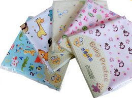 Wholesale 2016 set Hot x120cm Baby Infant Waterproof Urine Bed Mat Pink Floral Reusable Diaper Travel Home Cover Burp Changing Pads