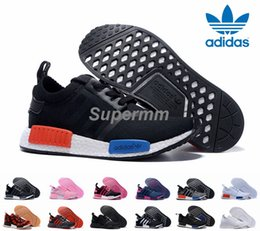 Wholesale 2016 Adidas NMD Runner R1 Primeknit White OG Black Nice Kicks Men Women Running Shoes Sneakers Originals Classic Super Star Casual Shoes