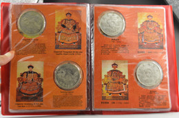 Wholesale Elaborate Old Collectibles Tibetan Silver The Emperors Of Qing Dynasty Pages