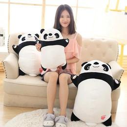 Promotion oreillers panda en peluche 45-70cm Cute panda mignon Peluches Peluches farcies remplies Panda Tissu poupée Enfants oreiller Coussin cadeau d'anniversaire pour bébé