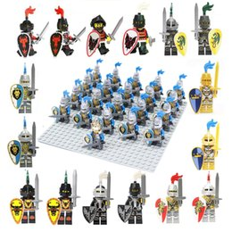 21pcs Medieval Rome Castle Knight Lion dragon sliver hawk knights Army weapon horse minifigure Building Block Brick accessory minifigs