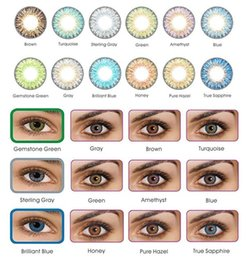 3-tone fresh color blends contact lenses crazy lens   12 colors Cosmetic contacts free shipping ready in stock