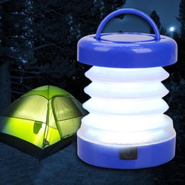 Descuento altos tiendas de campaña Venta al por mayor- 5LED portátil escalable tienda de luz de la lámpara de camping al aire libre que va de excursión Bivouac plegado linterna de alta calidad