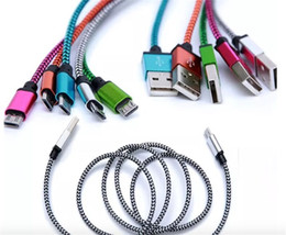 Type C cable Nylon braided micro usb cable fast Charging type C Lightning Cable for Android smartphone xiaomi samsung mobiles phones
