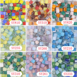 Wholesale 10 X mm Square Crystal Mosaic Tile mix series DIY Mosaic Art Supplier Home garden Glass stone glass beads