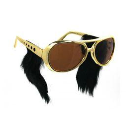 2017 or gros cadres lunettes Lunettes de soleil Elvis de Sunglasse or gros cadres lunettes ventes