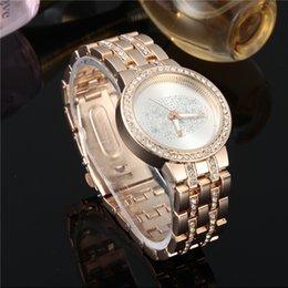 Promotion regarder rose d'or Golden Silver Rose Gold fameux marque de luxe Montre Ladies Watches Acier inoxydable Rhinestone diamants femmes robe de montre Montre Relogio