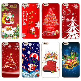 Wholesale NEW phone case Christmas Tree Santa Claus series picture For iPhone S C SE PC hard shell