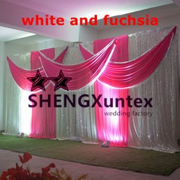 Top Sale Wedding Backdrop Curtain In White Color \ Stage Drape Curtain For Wedding