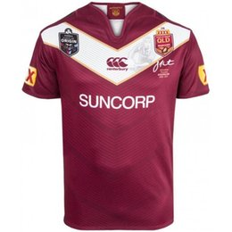 Wholesale 2017 NRL National Rugby League Queensland QLD Maroons Malou Rugby jersey QLD MAROONS STATE OF ORIGIN Rugby jersey Shirts s XL