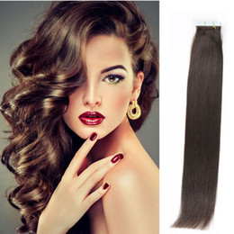 Tape in Human Hair extensions 16-24inch Brazilian Virgin Human Hair Extension 20pcs PU Skin Weft Silky Straight 30-70g Multi Colors