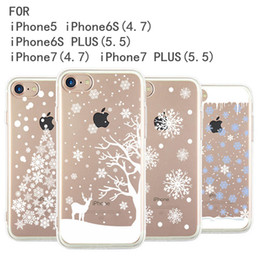 01-04 Christmas snowflake series For iPhone5 6 adn iPhone7 mobile phone shell, apple TPU protective sleeve, anti fall mobile phone cover