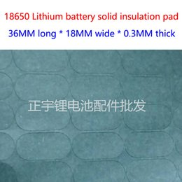 100pcs Lot 2S 18650 lithium battery Green Barley paper insulation pads 2 joint solid mat mesion insulation pad