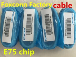 Wholesale 100 Genuine Original From Foxconn factory E75 chip Data Charger USB Cable adapter CABLE OD MM m ft usb cable
