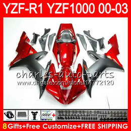 8Gift 23Color Body For YAMAHA YZF1000 YZFR1 02 03 00 01 YZF-R1000 62HM7 red black YZF 1000 R 1 YZF-R1 YZF R1 2002 2003 2000 2001 Fairing
