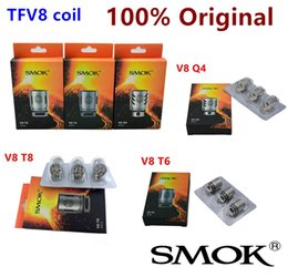 Authentic Smok TFV8 Coil Head V8-T8 V8-T6 V8-Q4 V8-X4 V8-T10 Turbo V8 RBA Replacement Coils For TFV8 Cloud Beast Tank 100% original