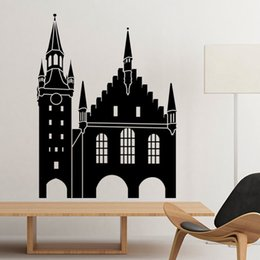 Wholesale Germany Cologne Cathedral Landmark Architecture Silhouette Illustration Pattern Wall Sticker Art Decals Mural DIY Wallpaper for Room Decal