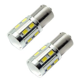 Wholesale 1156 BA15S SMD Bulb Cree led Chips High Power lamp w led car bulb brake Lights Source parking White Red Yellow V V