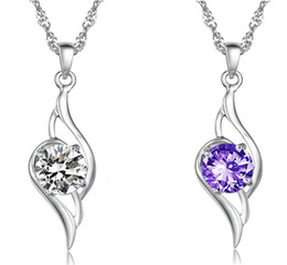 High qualit Austrian crystal Rhinestone Angel Pendant Statement NecklaceFashion Class Women Girls Lady Swarovski Elements Jewelry Free ship