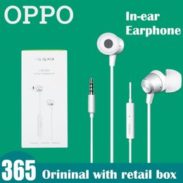 Oppo In-ear earphone with mic and voice control noise canceling Earplug for Oppo R9 R7 R7S A33 A53 with retail box