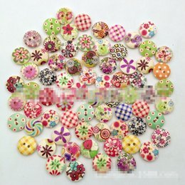Wholesale 1000 Multicolor Holes Wood Sewing Buttons Scrapbooking Knopf Bouton botones Colorful DIY Wooden Sewing Craft Scrapbooking New TY2094