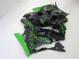 Descuento 91 carenados honda cbr Tres regalo hermoso libre y nuevo ABS de la alta calidad del carenado fijaron para HONDA CBR600 91-94 CBR 600 F2 1991 1992 1993 1994 llama verde negra agradable
