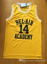 Wholesale A Will Smith Basketball Jersey Will Smith Fresh Prince Jersey Bel Air Academy Jersey Stitched Bel Air Jersey Yellow