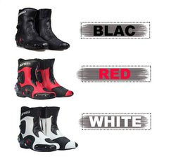 Wholesale New Ankle joint protection motorcycle boots Pro Biker SPEED boots for motorcyle Racing Motocross Boots BLACK RED WHITE