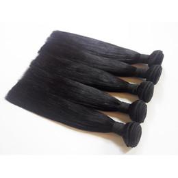 Peut teindre remy extensions de cheveux à vendre-3bundles soyeux ligne droite indienne rembourrée Fibre de trame couleur naturelle 8-30inch 7A 100% brésilienne extension européenne de cheveux humains peut être teint