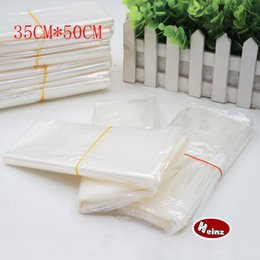 35*50cm POF Shrink Wrap Bags white POF Film Wrap Cosmetics Packaging Bag Open Top Plastic Heat Seal Shrink Storage Bag. Spot 100  package