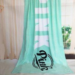 Размеры одеяло Онлайн-10pcs 4colors VS love PINK пляжные полотенца одеяло йога большой размер тела одеяла размер 180 * 105 см для мужчин и женщин