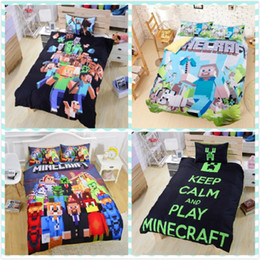 Wholesale Christmas gift hot in stock Styles Minecraft Bedding Children D Bedding Sets Cartoon My Bedding minecraft Steve Kids Bed Sets creeper