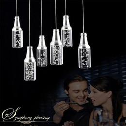 5W LED acrylic Pendant Lamps Hotel bar counter KTV pendant light Restaurant chandelier Bottle droplight Bottle Bubble pendant Lamp light