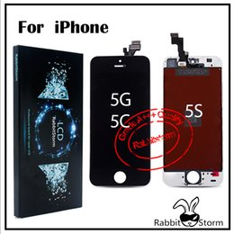 Wholesale Best AAA Quality For iPhone S C LCD Digitizer Touch Screen Panels full Assembly With Dust Mesh and Camera Ring WT BK Free DHL Shipping