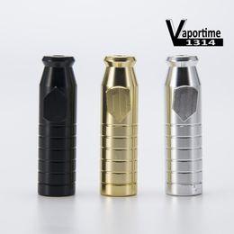 Acabado mate en Línea-Snuff Bullet 2.3 pulgadas de acabado mate contienen 3 g Snuff Bullet Pipe Aluminio Metal Snuff Snorter pipas de fumar portátil colorido regalo 142