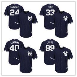 New York Yankees Jerseys Stitched Mens White Home Gray Navy Blue #24 Gary Sanchez 33 Greg Bird 40 Luis Severino 99 Aaron Judge