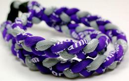 Promoción - el béisbol 350PCS / Lot se divierte la trenza púrpura púrpura oscura trenzada cuerda RT028 de GE del deporte de la cuerda 3 del titanio desde trenzas grises oscuros proveedores