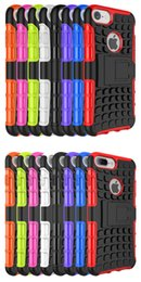 Wholesale protection case tire pattern for Iphone and plus with in shockproofing and stand bracket function