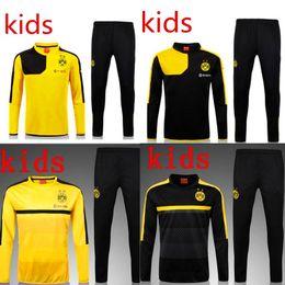 Wholesale 2015 Dortmund Training Suits Chandal Dortmund Maillot De Foot Survetement Football Tracksuit Sportswear long sleeve pants shirt