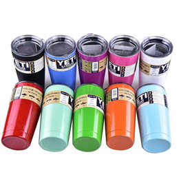 Wholesale Stainless steel yeti Tumbler Travel Vehicle Beer Mug Double Wall Bilayer Vacuum colorful Yeti oz oz Cups Insulated HZ011