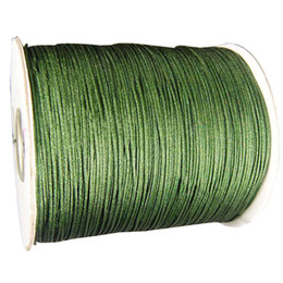 1mm Olive Green Rattail Satin Braid Nylon Cord+Jewelry Accessories Thread Macrame Rope Shamballa Bracelet Beading Cord 350m Roll