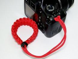 Outdoor life-saving rope adjustable woven camera wrist strap for canon nikon