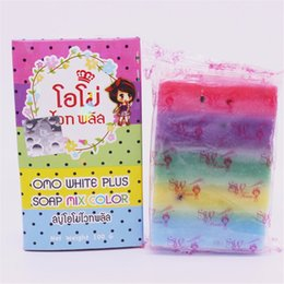 New Arrivals Handmade OMO White Plus Soap Mix Color Plus Five Bleached White Skin Rainbow Soap Free Shipping