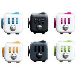 Wholesale 11 colors Fidget Cube a vinyl desk toy New Fidget Cube anti irritability toy magic cobe Funny Christmas gift stock
