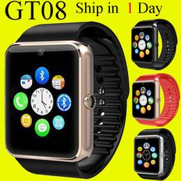 Promotion apple iphone montres intelligentes GT08 Smart Watch Smart Watch avec carte SIM Slot DZ09 A1 U8 et NFC Health Watchs pour Android Samsung et IOS Apple iphone montres OTH098