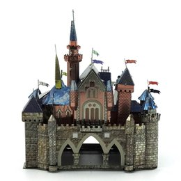 Sleeping Beauty Castle 3D Metal Puzzle Colorful Assembly Earth Model Kits Laser Cut Toy Jigsaw Artwork DIY Building Block Gift for Adults