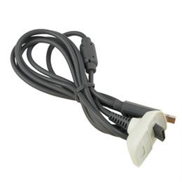 2016 charge de contrôleur sans fil xbox Vente en gros-1pcs sans fil contrôleur chargeur câble de charge noir charge USB câble plomb kit pour Microsoft pour Xbox 360 pour l'arrivée charge de contrôleur sans fil xbox à vendre